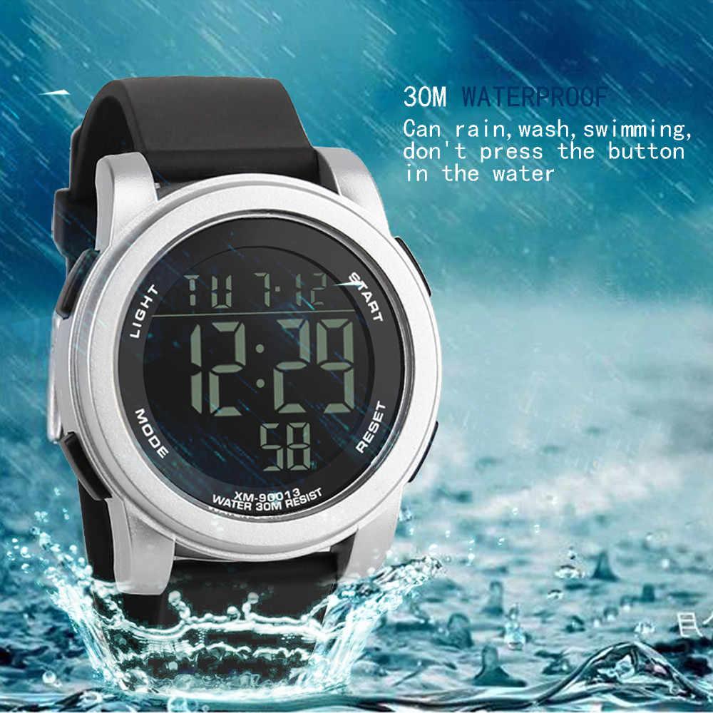 Relógio de pulso de luxo digital militar esporte led à prova dwaterproof água relógio de pulso esporte relógio eletrônico digital presentes relógio de pulso masculino lumino