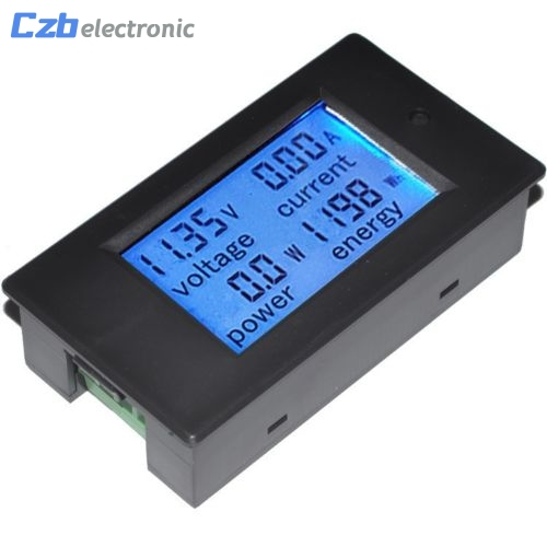 DC 20A LCD Combo Meter Voltage Current KWh Watt Car Battery Pannel Power Monitor High Quality