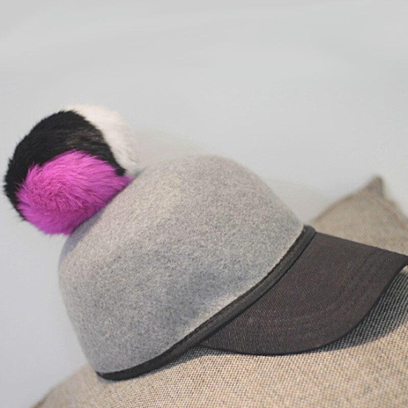 Fibonacci feltro di Lana cavaliere equestre cappello da donna autunno e l inverno  del coniglio palla di pelo rappezzatura di modo cappello fedora in ... dd17544616db