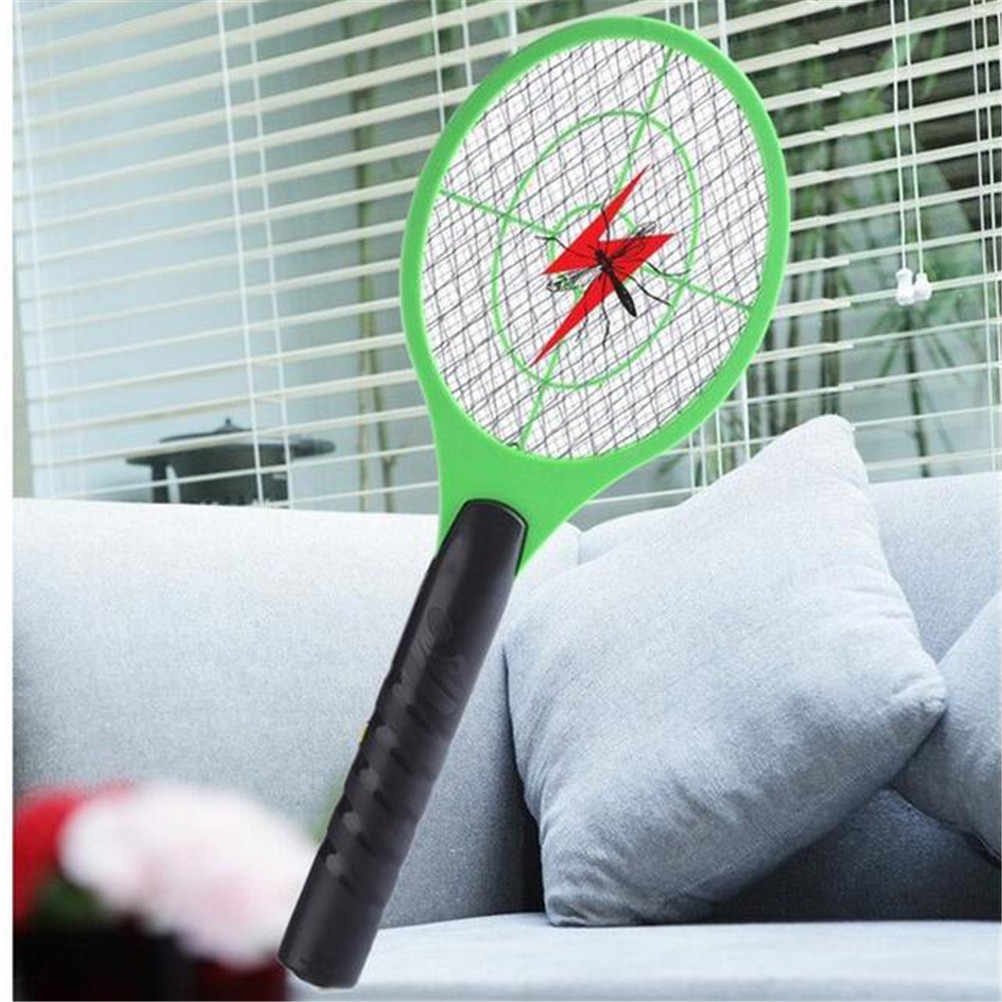 חדש חשמלי טניס בת כף יד מחבט באג החרקים טוס צרעה מחבט יתושים רוצח