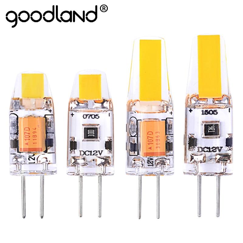 все цены на Goodland G4 LED Lamp 3W 6W AC/DC 12V 360 Beam Angle Replace Halogen Lamp Chandelier Lights G4 COB LED Bulb онлайн