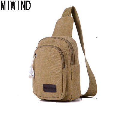 Chest Bag Small Canvas Shoulder Bag Mini Crossbody Sling Bags Male TTL1251