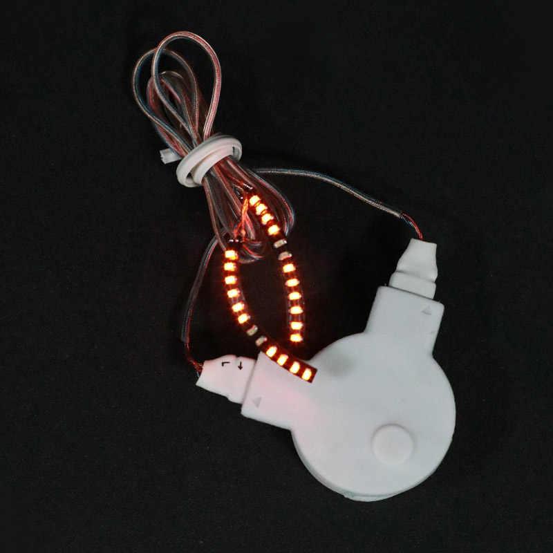 Pestañas LED impermeable interactivo de pestañas brillante del párpado para fiesta discoteca KTV de Halloween 669