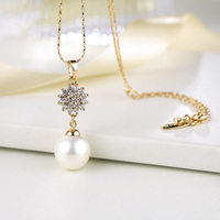 808 STORE Simple Simulated Pearl Bridal Jewelry Sets Crystal Fashion Wedding Jewelry Necklace Earring Sets for Women