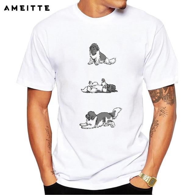 Printed T Newfoundland Funny Summer Dog Shirt Naughty nOZ8PkXN0w