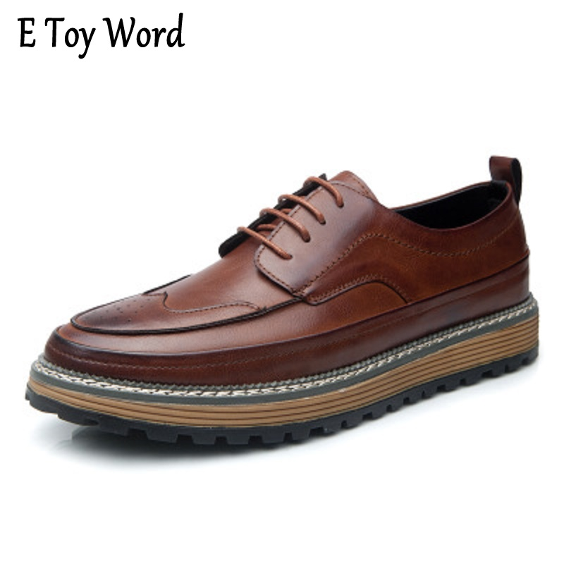 2017 Spring New Men Shoes Fashion Men Casual Shoes Sporty Walking Shoes Brogue Style Novelty No Tie Shoelaces casual shoes