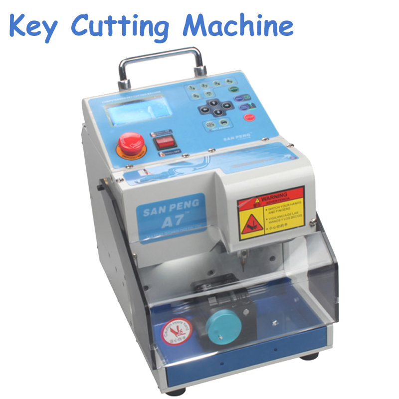 Key Cutting Machine Easy Carry Light Single-sided/ Double-sided Standard Laser Key Cutting Machine MIRACLE-A7 gold quality ce standard 900 600mm felt cutting machine