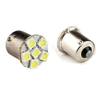 2pcs/lots DC12V 5050 6 SMD 1156 BA15S 1157 BAY15D LED Bulbs for Auto Car Truck Indicator Brake Light Turn Signal White