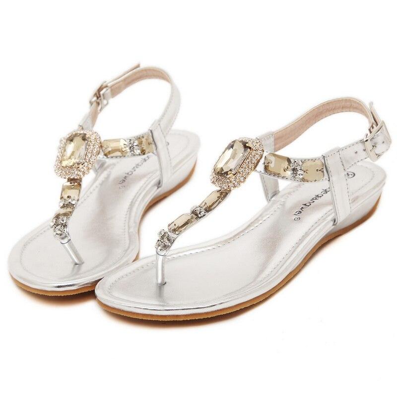 Goud Zilver Twee kleuren Optionele Dames Sandalen Schoenen met Mode - Damesschoenen - Foto 5