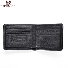 The first layer of leather Men's wallet short Style new business casual wallet embossed leather the whole cross-section Wallet