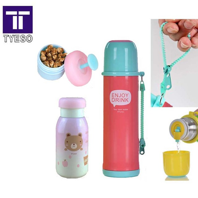 480ml and 260ml vacuum flask stainless steel water bottle candy color  thermos portable for women kids termos mug as gift dae020d127