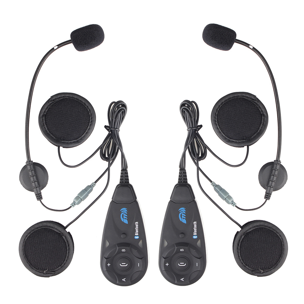 1 Set Accessory More+2pcs V5 Wireless Two-way Intercom 5 Riders1200m Motorcycle Motorbike Helmet Bluetooth Interphone Headset FM
