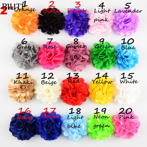 20pcs/lot Hair accessory 2'' Rosettes DIY flowers satin silk carnation fabric flower Flat back Free shipping TH54
