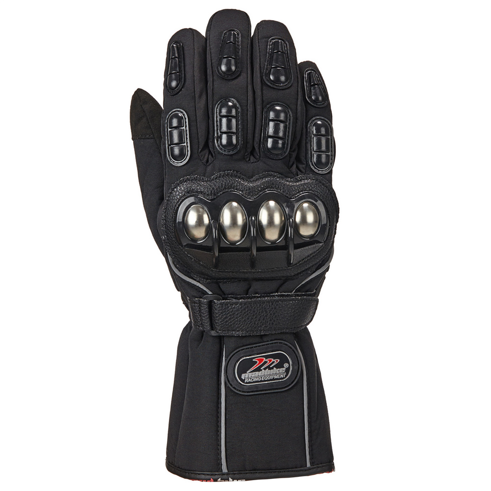 Motorcycle gloves xl - Ilm Riding Gloves Alloy Steel Motorcycle Gloves Warm Waterproof Windproof For Winter Use Motorbike Gloves Four