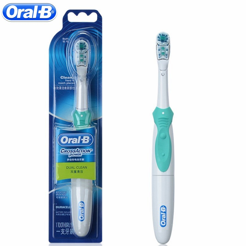 Oral B Dual Clean Electric Toothbrush Teeth Whitening Tooth Brush Non-Rechargeable Battery Powered Brush Football Match Gift electric toothbrush rechargeable teeth whitening tooth brush adults childfren battery powered dental equipment