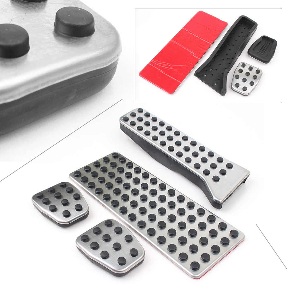 GZYF Stainless Steel 4Pcs MT Pedal Brake Clutch Gas Accelerator Pedal Footrest Cover Fits Mazda 2 3 6 CX3 CX4 CX5