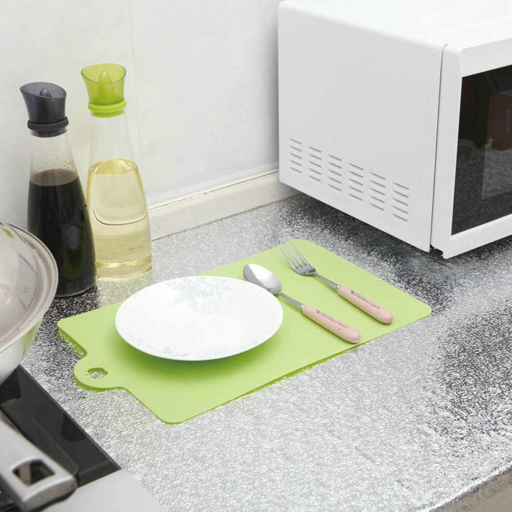 עמיד למים קיר מדבקה עבה רדיד אלומיניום מטבח ארון מדבקה עמיד למים Selfadhesive טפט מטבח בישול כלי