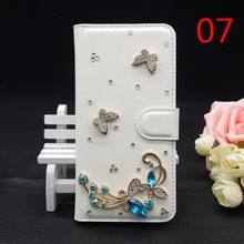 25Style For Huawei Ascend P2 (4.7″inch) Bling Handmade Glitter Rhinestone Phone Case Pearl PU Leather Cover Wallet Protective 3D