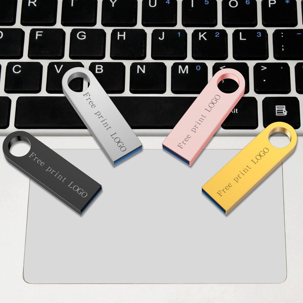 memory stick usb 3.0 metal waterproof usb flash drive 128gb U disk key Pendrive 64GB 32GB 16GB 8GB 4GB Pen Drive Mini Free logo (14)