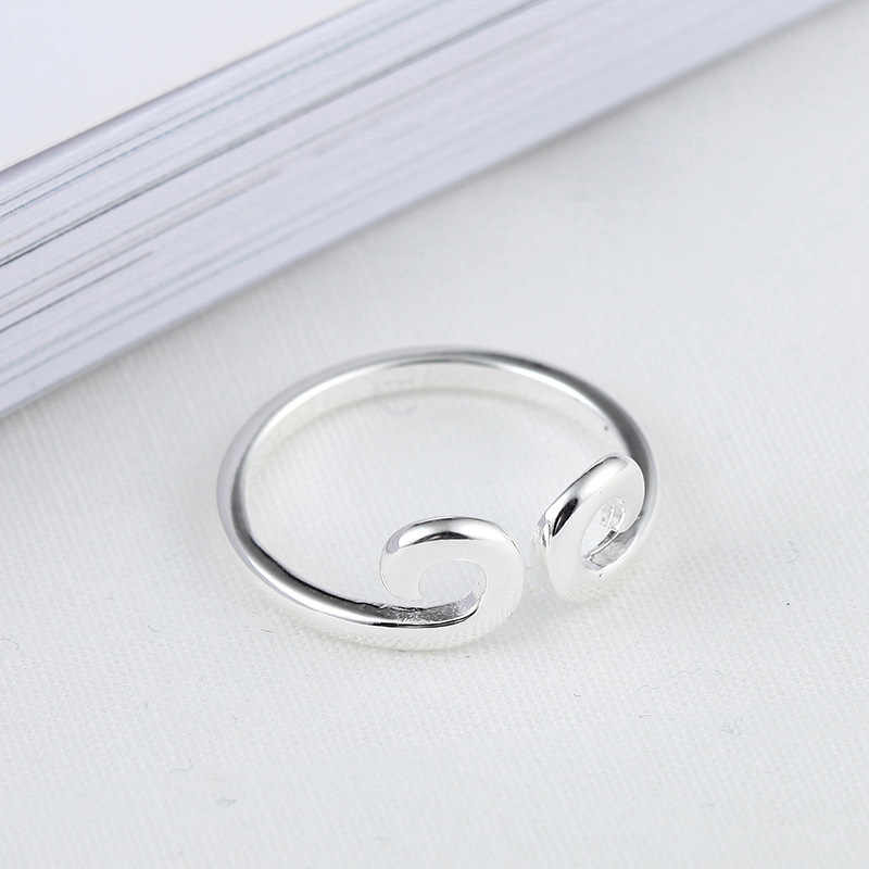 แฟชั่น 925 เงินสเตอร์ลิงแหวนมงกุฎสำหรับงานแต่งงานของผู้หญิงเครื่องประดับ Punk Retro โบราณปรับขนาดนิ้วมือแหวน