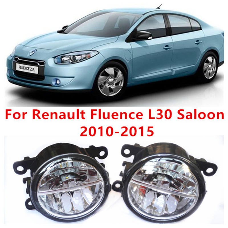 For Renault Fluence L30 Saloon  2010-2015 Fog Lamps LED Car Styling 10W Yellow White 2016 new lights дефлекторы окон autoclover renault fluence 2010 nsm3 2010 корея комплект 4шт a160