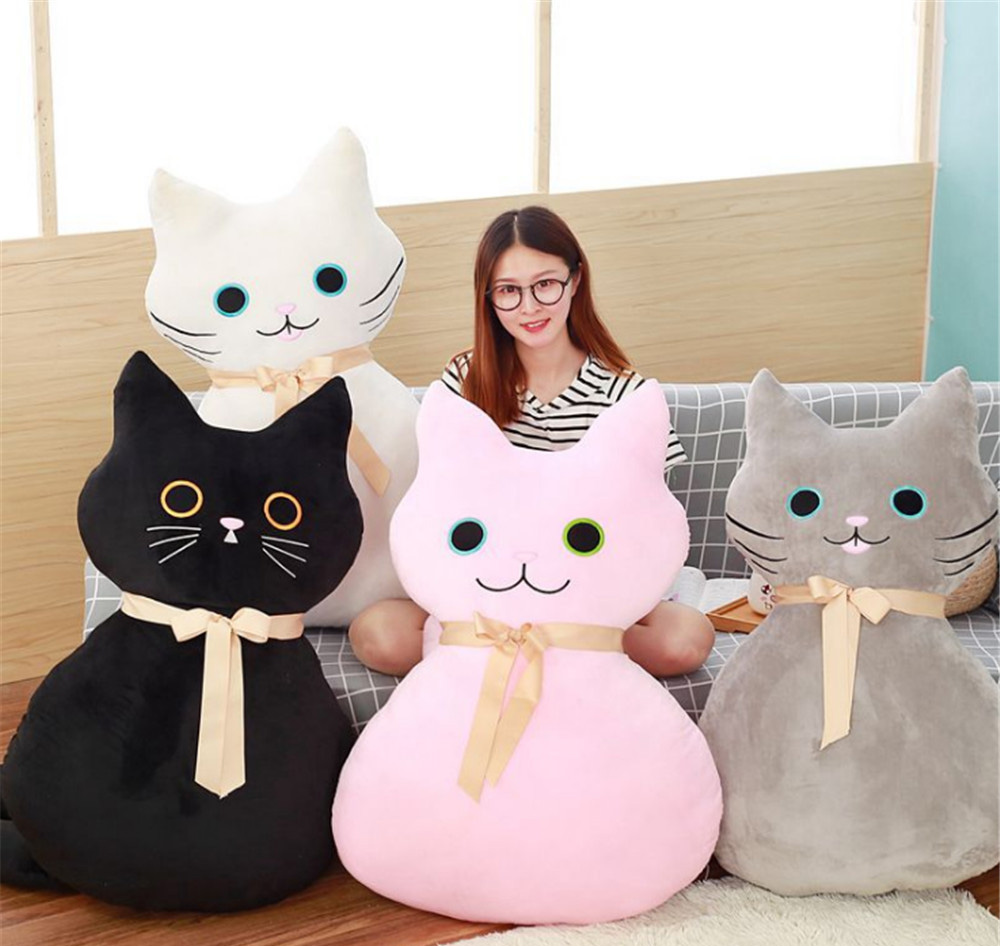 Fancytrader Pop Anime Cat Plush Pillow Toys Giant Cuddly Soft Stuffed Cats Doll Baby and Lover Present 100cm 39inches fancytrader new style giant plush stuffed kids toys lovely rubber duck 39 100cm yellow rubber duck free shipping ft90122