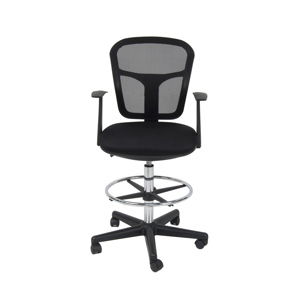 Offex Home Office Riviera Drafting Chair - Black offex home office plinth ottoman latte