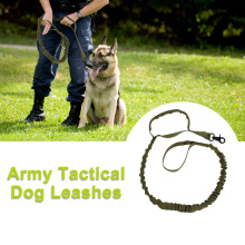 Dog Leads Double Handle Army Tactical Leash Nylon Bungee Leashes Pet Military Lead Belt Training Running Supplies