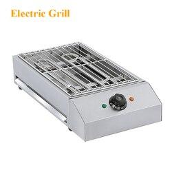 Domowego handlowa Grill pulpitu maszyny Grill elektryczny ze stali nierdzewnej elektryczny Grill bezdymne Grill elektryczny EB-280 220 V
