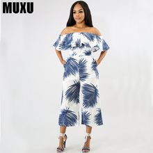 MUXU floral jumpsuit europe and the united states jumpsuits rompers tutine donna wide leg jumpsuit sexy summer backless 2018 цена и фото
