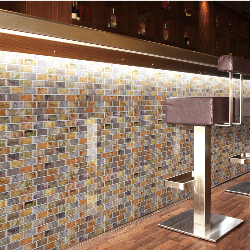 Popular tile wall paper buy cheap tile wall paper lots for Peel and stick wallpaper for kitchen