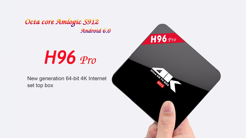 H96 pro-newst S912 android 6.0 marshmallow tv box 3g_16g