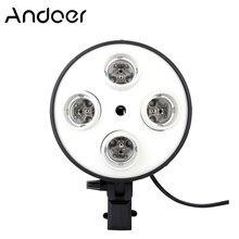Andoer-Soporte de luz 4 en 1 para fotografía, adaptador para bombilla E27 para estudio de vídeo y fotografía