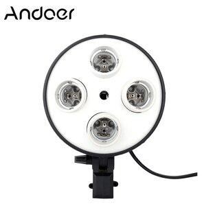 Image 1 - Andoer 4 في 1 التصوير إضاءة صور حامل E27 قاعدة المقبس ضوء المصباح الكهربي محول للصور فيديو استوديو سوفت بوكس