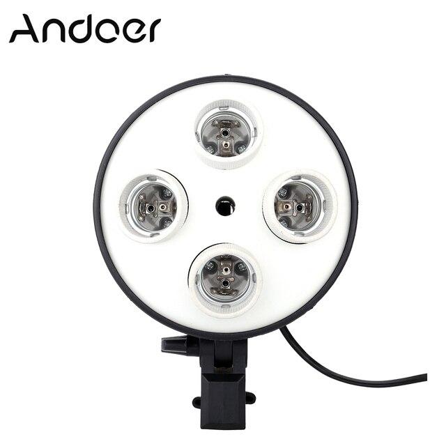 Andoer 4 في 1 التصوير إضاءة صور حامل E27 قاعدة المقبس ضوء المصباح الكهربي محول للصور فيديو استوديو سوفت بوكس