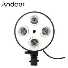 Andoer 4 en 1 fotografía foto soporte de luz E27 Base Socket luz lámpara adaptador para bombilla para estudio de vídeo y fotografía Softbox