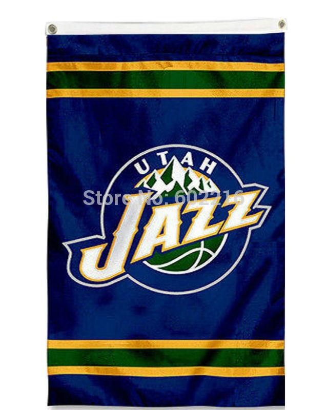 sports shoes 5586d c2c75 New Utah Jazz Outdoor Flag 3FTX 5FT Custom Team Banner Fan ...
