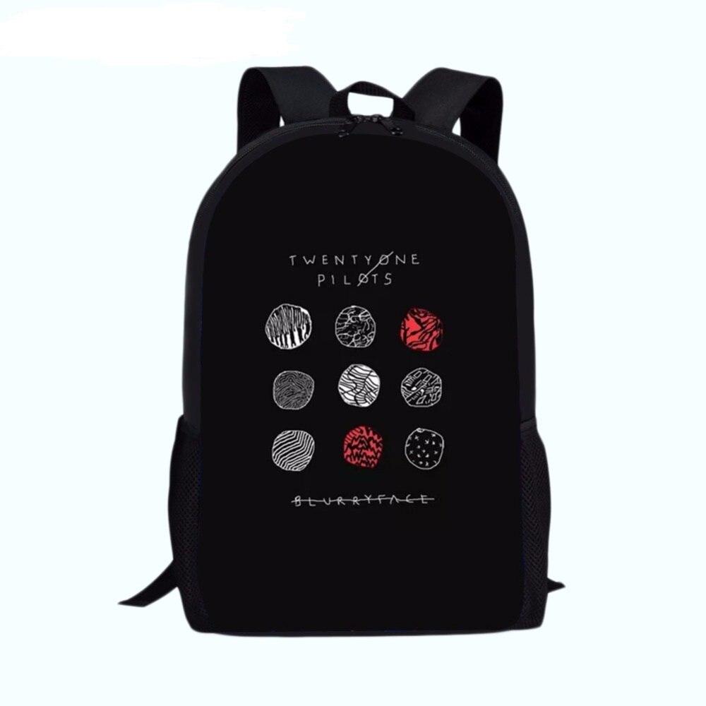 b70257e4cb4d Школьные ранцы Twenty one pilots рюкзаки рюкзак черный plecak подросток  обувь для мальчиков девочек ортопедический рюкзак