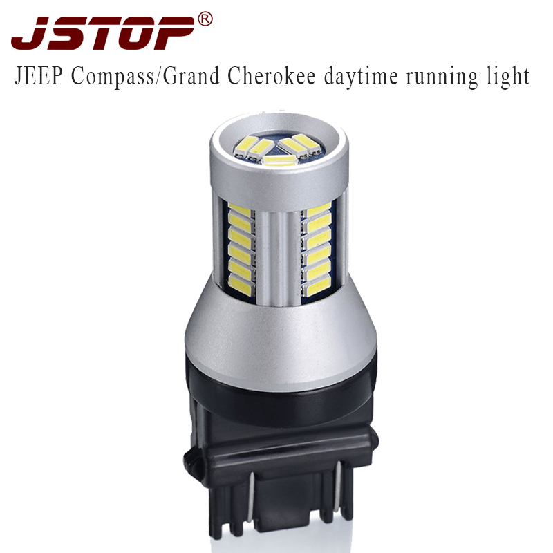 JSTOP led Daytime Running lamps car lights canbus led 12V T25 3157 P27 7W 6000k bulbs
