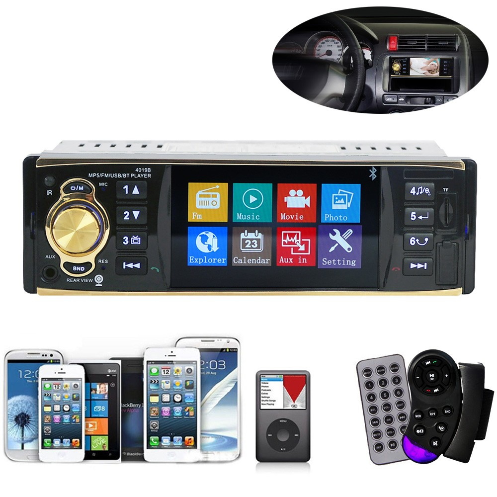 2017 New Universal 4.1 Inch In-Dash Car Bluetooth Stereo Aux Input USB/SD/FM/MP5/BT/WMA/MP3 Radio Player Car Interior Electronic car mp5 player bluetooth hd 2 din 7 inch touch screen with gps navigation rear view camera auto fm radio autoradio ios