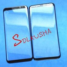 10 pz Anteriore Dello Schermo Esterno Obiettivo di Vetro di Ricambio Touch Screen Per Samsung Galaxy S8 + S8 Più G955 G955F F955FD g955W G955A