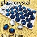 Blue Zircon Color Rivoli Cristal Fancy Stone Point Volver Cristal piedra Para La Joyería Que Hace 6mm 8mm 10mm 12mm 14mm 16mm 18mm