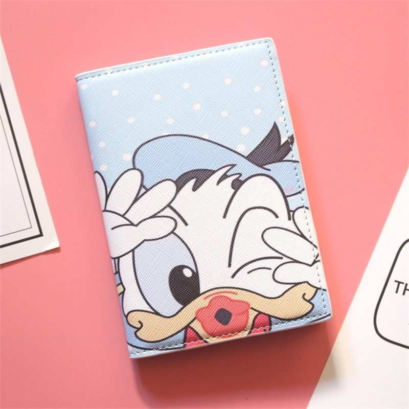 2019 Donald Duck Card Holder Purse Multi-function Bag Cover On The Passport Holder Protector Wallet Business Card Boys Passport