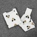 SY117 novos meninos e meninas chegada crianças swan padrão manga comprida T camisa e calças compridas 2 pcs. pijama set Crianças roupa set