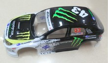 S050 1/10 1:10 PVC painted body shell for 1/10 RC hobby racing car 2pcs/lot free shipping недорго, оригинальная цена