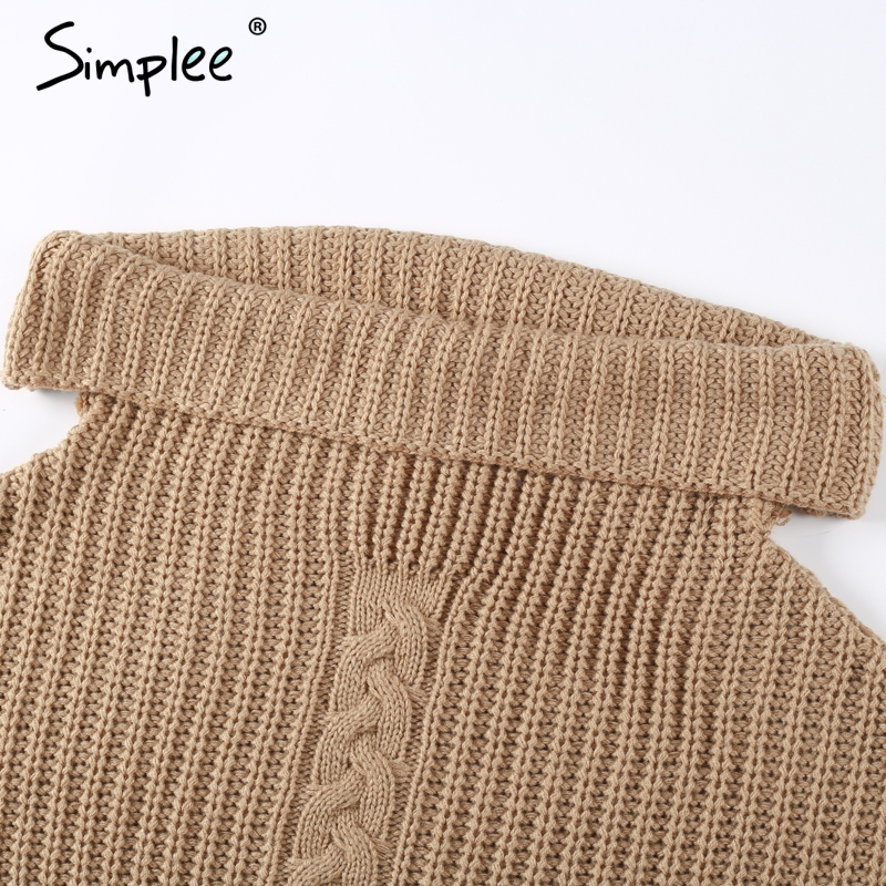 7e6d945d05c19e ... Simplee One shoulder sexy winter dress women Knitted loose oversized  jumper winter dress 2017 Autumn new casual pullover. 46% Off. 🔍 Previous.  Next