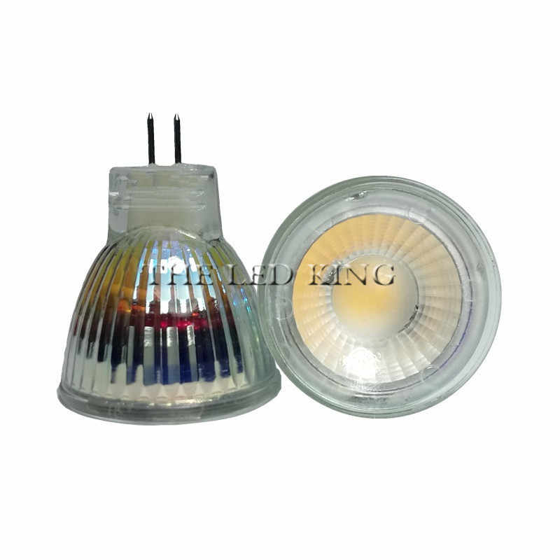 1PCS New Arrival MR11 COB dimming Led Spotlight Glass Body GU4 Lamp Light AC DC 12V 220v MR11 COB 5W LED Bulb Warm White / white