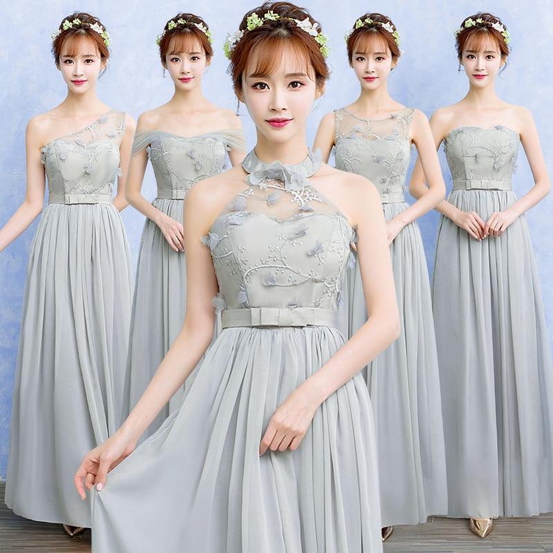 Gasa de malla de encaje elegante vestido de noche largo maxi vestido de fiesta c