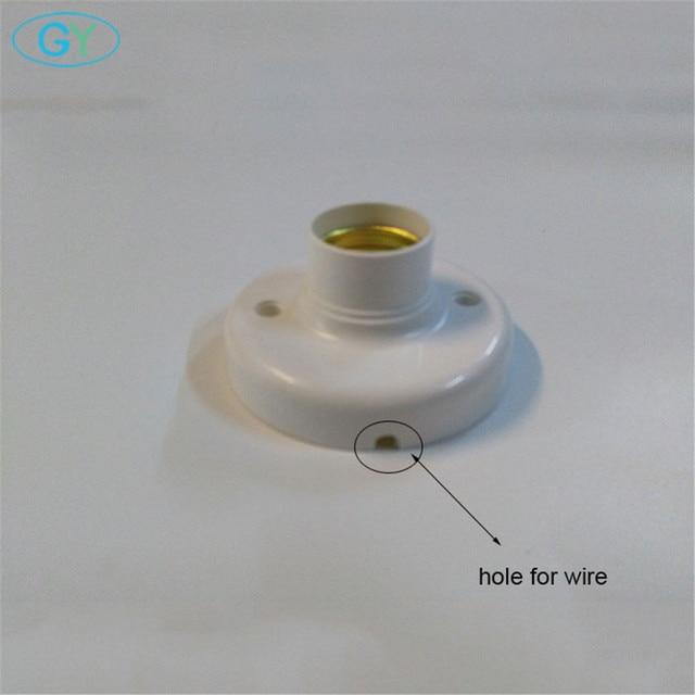 4 قطعةالوحدة البلاستيك E27 قاعدة مع ثقب wire ، المسمار ضوء