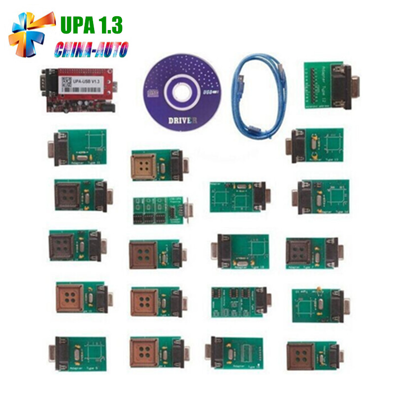 Best Quality V1.3 UPA USB Programmer With Full Adaptors UPA Programmer the best quality update version super upa usb programmer with full adapters hot selling